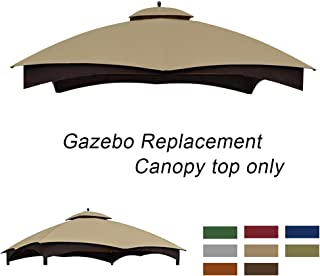 ABCCANOPY Gazebo Replacement Canopy 10'x12' for Lowe's 10' x 12' Gazebo Model #GF-12S004BTO/GF-12S004B-1(Beige)