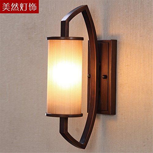 JJZHG Wandlamp Wandlamp Wandlamp Woonkamer achtergrond muur lamp slaapkamer nachtlampje badkamer spiegel koplamp retro licht (11 * 43cm) omvat: wandlampen, wandlamp met leeslampje