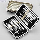 13pcs / set cortaúñas de acero inoxidable multifunción Set herramienta de belleza tijeras de uñas Clipper manicura pedicura kit de corte de uñas