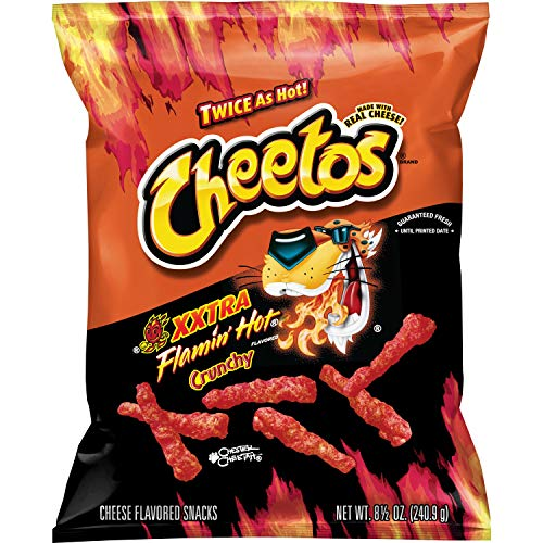 Cheetos Crunchy Xtra Hot Cheese Flavored Snacks 8.5 oz / 240.9 g pack of 1