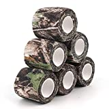 AIRSSON 6 Roll Camouflage Tape Cling Scope Wrap Military Camo Stretch Bandage Gun Rifle Shotgun Camping Hunting 2' x 177' x 6 yds Self-Adhesive (6 Kinds for Choice)