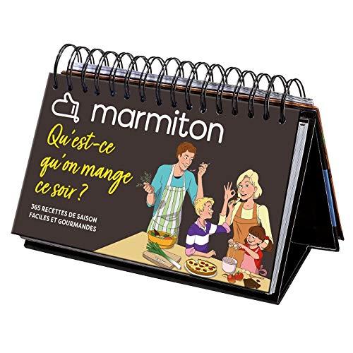 Calendrier chevalet Marmiton 365 recettes Qu'est ce qu'on mange ce soir ?