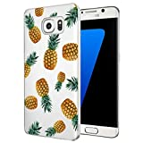 Vavies Case for Galaxy S7 Edge, Galaxy S7 Edge Phone Case for Girls Women, Slim Shockproof Clear Pattern Soft Flexible TPU Back Phone Protective Cover Cases for Samsung Galaxy S7 Edge (Pineapple)