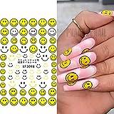 PMSMT Summer Nails Smile Face 3D Nail Art Stickers Decalcomanie Adesivo Maincure Salon Strumento per Nail Art in Acrilico