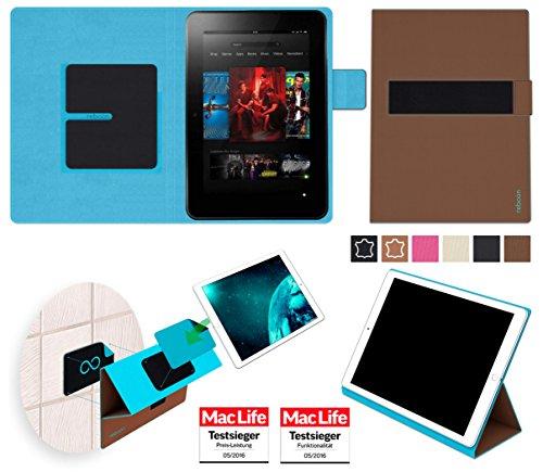 reboon Hülle für Amazon Kindle Fire HD 8.9 Tasche Cover Hülle Bumper | in Braun | Testsieger