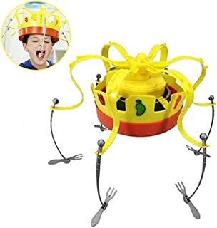 Crown Food Game Hat Rotating Crown Snacks Cap Electronic Spinning Crown Snacks Food Kids & Family Game