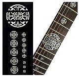 Marcadores de trastes para guitarras – Emblema 12º traste – Cruz celta – Metálico