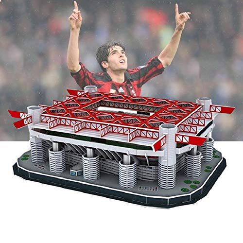 RHSML Estadios De Fútbol Puzzle, Giuseppe Meazz San Siro 3D Puzzle Arquitectura Stadio Juguetes Modelos A Escala De Rompecabezas De Papel De Construcción Jigsaw