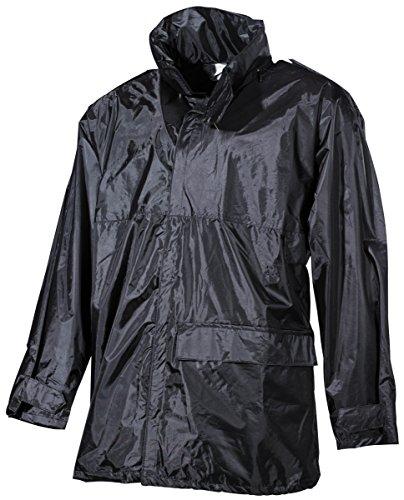 MFH Homme Imperméable Noir Taille XL