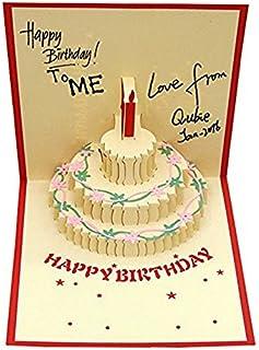 Tarjeta de felicitación de cumpleaños con tarta de Monbedos 3D, el mejor regalo para el