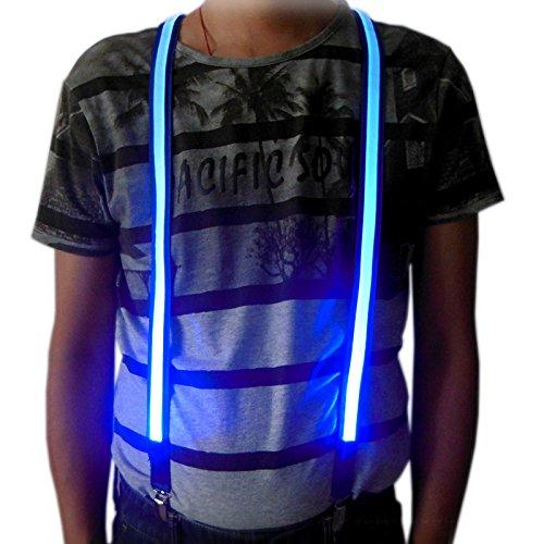 Bretelles,25mm Light Up LED Ceintures de Pantalons Bretelles pour Hommes et Femmes, une taille