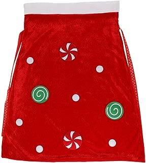 GXOK Large Santa Gift Bag Christmas Candy Bag Christmas Decorations Santa Sack Costume Velour Santa Bag Xmas Ornament Gifts Bag