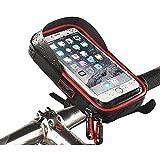 Gnohnay Bolsa para manillar de bicicleta, soporte para teléfono de bicicleta, soporte para teléfono de bicicleta y motocicleta con rotación de 360 grados para iPhone XR Max XR XS 8 7 6S 6 Plus Samsung