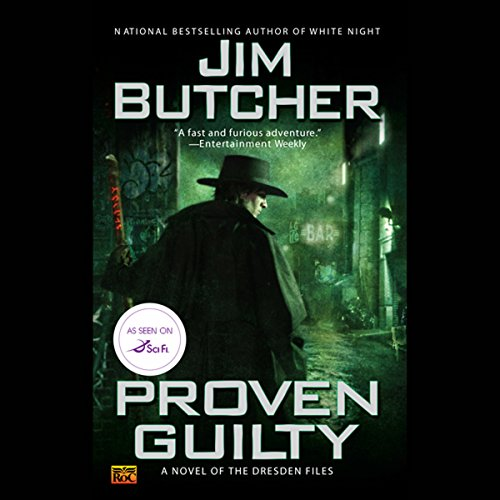 Proven Guilty     The Dresden Files, Book 8              De :                                                                                                                                 Jim Butcher                               Lu par :                                                                                                                                 James Marsters                      Durée : 16 h et 15 min     3 notations     Global 5,0