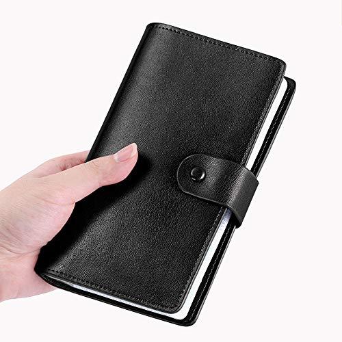 Gqbzz Mens Wallet large card holder Large capacity long card holder Multifunctional leather card holder Men's Leather Wallet -One Size Safe Card Case