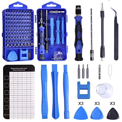 Professional Computer Repair Tool Kit, HPFIX 122 in 1 Precision Magnetic Screwdriver Set Electronics Repair Tool Kit for Cellphone, Laptop, Tablet, Cameras, Xbox Controller