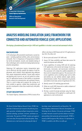 Analysis Modeling Simulation (AMS) Framework for Connected and Automated Vehicle (CAV) Applications