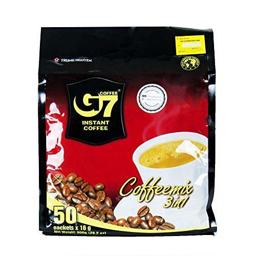 Trung Nguyen - G7 3 In 1 Instant Coffee - 50 Sachets | Roasted Ground Coffee...