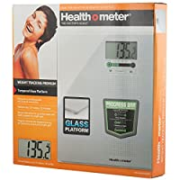 Healthometer Digital Weight Tracking Scale, With Large Large Lighted Display, 400 Pound Capacity, Tempered Glass by Health o Meter