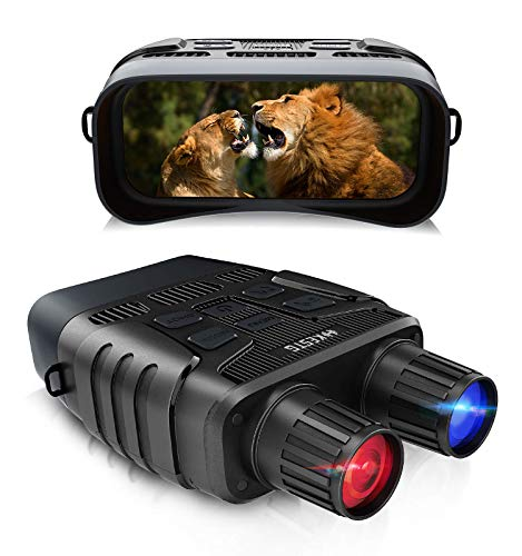 Night Vision Binoculars,Night Vision Goggles for Full Darkness, 4X Digital Zoom IR LED 3W 850NM Infrared Binoculars Night Vision for Hunter with 32G TF HD Image & 960p Video for Surveillance