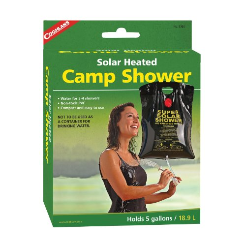 Coghlan's Solar Heated Camp Shower, 5-Gallon, Black