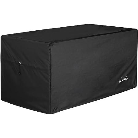 "Shieldo Deck Box Cover- Heavy Duty 600D Polyester Oxford Deck Box Cover to Protect Large Deck Box,100% Waterproof Deck Box Cover,63"" (L) x 30"" (W) x 28"" (H)(Black)"