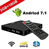 SeeKool [2019 Ultima Generazione] 4K TV Box Android 7.1 Model T Smart Android TV Box, Amlogic S905W Quad-Core 64bit,2GB RAM & 16GB Rom, Supporto USB, WiFi 2.4G, LAN, HDMI, AV, Ultra HD Android Player