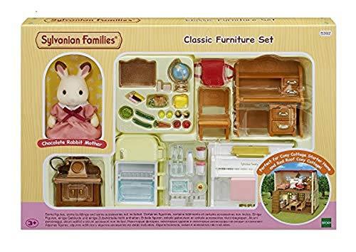 Sylvanian Families 5392 Einrichtungsset für Starter-Haus - Puppenhaus Einrichtung Möbel