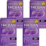 Trojan Her Pleasure Sensations Lubricated Latex Condoms-12 ct (Quantity of 4)