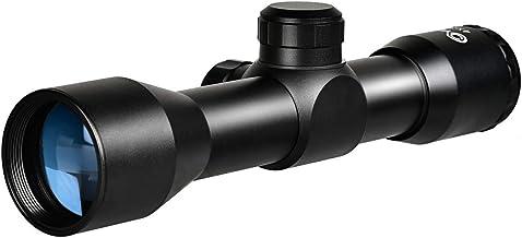 CVLIFE 4×32 Compact Rifle Scope Crosshair Optics Hunting Gun Scope with 20mm Free Mounts