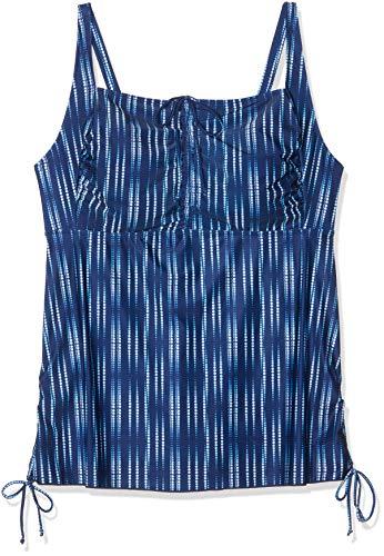 Swim by Zizzi Strandkleid Costume da Bagno Bambino, Blu (Dark Blue 9991), 62 (Taglia Produttore: 56) Donna