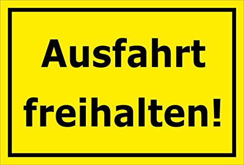 Melis Folienwerkstatt Schild - Ausfahrt freihalten - 30x20cm | Bohrlöcher | 3mm Aluverbund – S00065-066-C -20 VAR