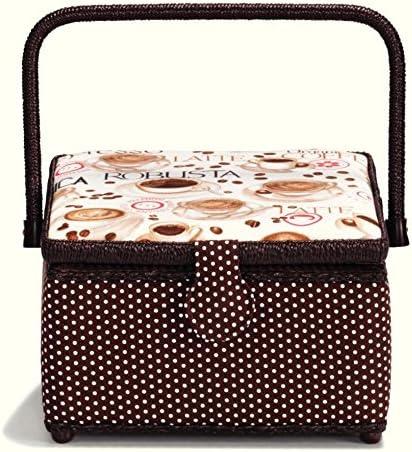 Prym Coffee Print Medium Direct sale of manufacturer Craft Max 55% OFF Dar Storage White Cream Basket