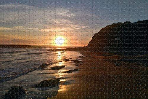 Smntt Puzzle 1 000 Madera niño Puzzle Hermoso Paisaje de Playa Amanecer niños Adultos Juego Adultos y Adolescentes