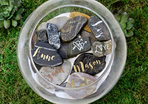 Wishing Stones Wedding Guest Book Alternative