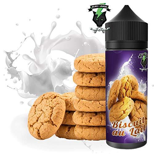 E-Liquid BISCUIT AU LAIT | 120ML TPD | ElecVap | Sin Nicotina: 0MG | E-Liquido para Cigarrillos Electronicos - E Liquidos para Vaper 70/30