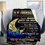 to My Boyfriend Throw Blanket 50x40 Inch, Birthday Gift Idea for Boyfriend - Soft Blankets Lightweight Picnic Outdoor Travel