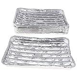 F Fityle Confezione da 20, Teglie Rettangolari per Grill in Lamina di Alluminio Leggero Ve...