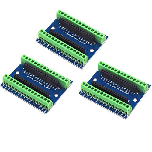 3 Stück Nano V3.0 IO Shield IO Controller Terminal Adapter Expansion Board für Arduino Nano IO Shield einfache Verlängerungsplatte für Arduino Nano AVR ATMEGA328P
