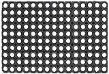 Velcoc GIACOMINI & GAMBAROVA Tappeto gomma ´compos´ 50x100 nero Arredo decorazioni casa, 60 x 100, 5 Unità