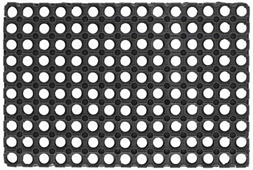 Giacomini & Gambarova Compos Tapis Rectangulaire, Caoutchouc, Noir, 50x100 cm