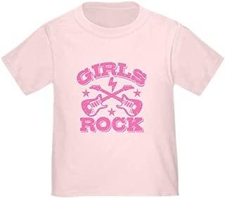 CafePress Girls Rock Cute Toddler T-Shirt, 100% Cotton