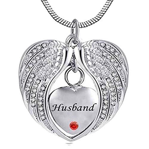 SBDLXY Collares para Cenizas Corazón Cristal Recuerdo Pet Memorial Siempre en mi corazón Colgantes