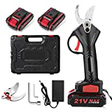 Seesii Handheld Cordless Electric Pruning Shears,2PCS Rechargeable 2Ah Battery Powered Tree Branch Pruner,30mm (1.18 Inch) Cutting Diameter,with Replacement Blade