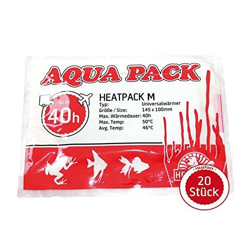 HeatPaxx Universalwärmer | HeatPack M 40h | AquaPack | Transportwärmer | Tier- & Pflanzenversand | 10 cm x 13 cm | 40 Stunden Wärmedauer (20 Stück)