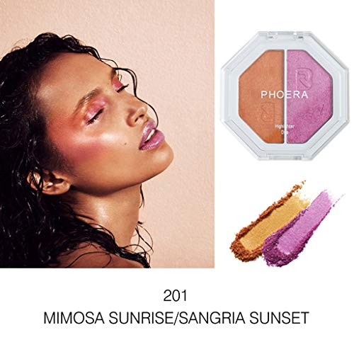 Make-up-Lidschatten, Lidschatten-Tablett,Momoxi PHOERA Zwei-Ton Highlighter Make Up Shimmer Creme Gesicht Highlight Lidschatten 2020 heiße neue Mode,Diamant-Pailletten, Farbverlauf,Reparaturkapazität