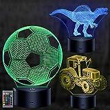 3D Illusion Lampe, mixigoo 3D LED Nachtlicht mit Fernbedienung und 16 Farbwechsel...