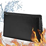 Fireproof Document Bags [Thermal Insulated] Fireproof Safety Boxes for Home Expandable Waterproof and Fireproof Money Bag,Fireproof Safe Storage Pouch with Zipper for A5 Document Holder,File and Cash