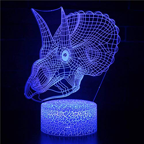 certainPL Illusion LED Acrylic Crown Royal Logo Home Bar Decor USB Charge 16 Color Table Mood Night Light Kids Desk Decoration Lamps Birthday Gift with USB Cable