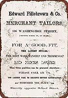Edward Fillebrown Merchant Tailors ティンサイン ポスター ン サイン プレート ブリキ看板 ホーム バーために